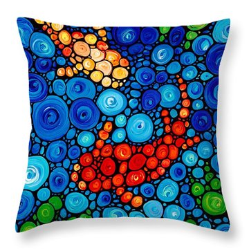 Pure Koi Joi Throw Pillow by Sharon Cummings