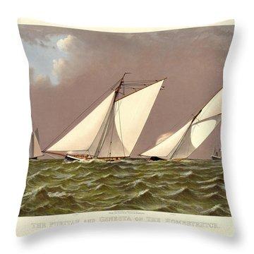 Puritan Boston Throw Pillow by Gary Grayson