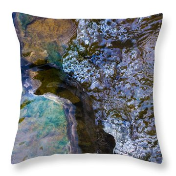 Purl Of A Brook 1 - Featured 3 Throw Pillow by Alexander Senin