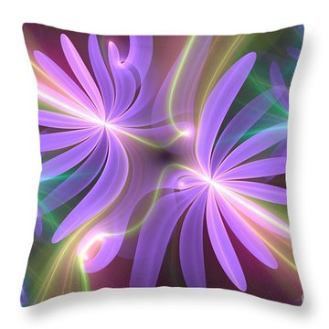 Purple Dream Throw Pillow by Svetlana Nikolova