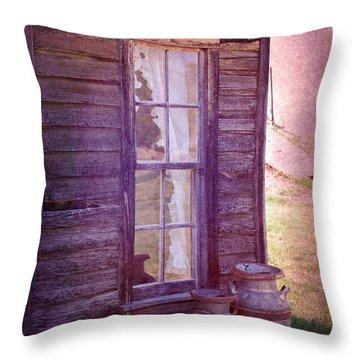 Purple Haze On The Prairie Throw Pillow by Judy Hall-Folde