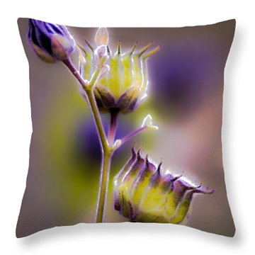 Purple Haze Throw Pillow by Optical Playground By MP Ray