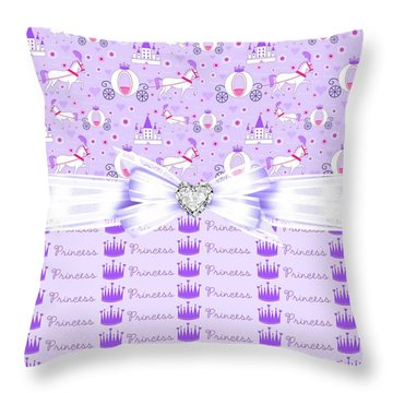 Purple Passion Princess  Throw Pillow by Debra  Miller