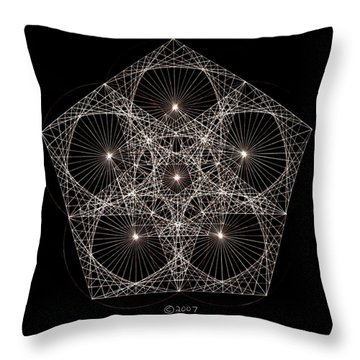 Quantum Star II Throw Pillow by Jason Padgett