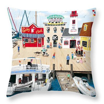 Quartet At The Quay Throw Pillow by Wilfrido Limvalencia