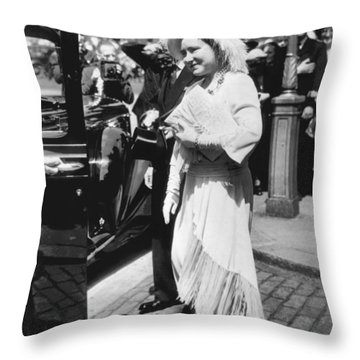 Queen Elizabeth Fashion Throw Pillow by Underwood Archives