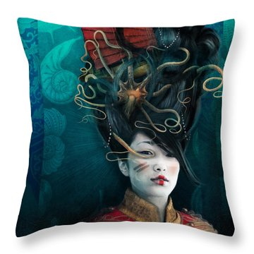 Queen Of The Wild Frontier Throw Pillow by Aimee Stewart