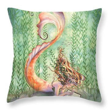 Quiet Time Throw Pillow by Sara Burrier