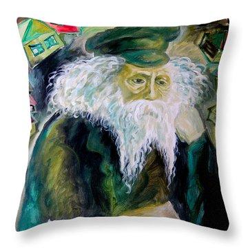 Rabbi Yosef Rosen The Rogatchover Gaon Throw Pillow by  Leon Zernitsky