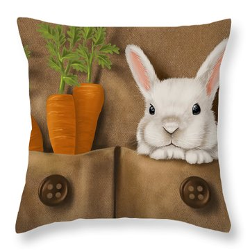 Rabbit Hole Throw Pillow by Veronica Minozzi