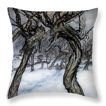 Rackham: Whisper Trees Throw Pillow by Granger