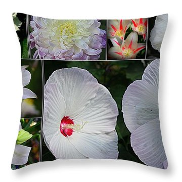 Radiant In White Throw Pillow by Dora Sofia Caputo Photographic Art and Design