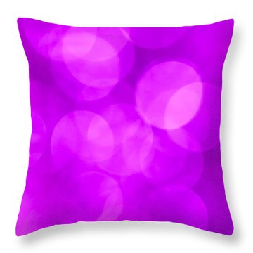 Radiant Orchid Abstract Throw Pillow by Jan Bickerton