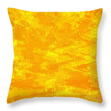 Radiating Sunshine Colors - Abstract Art Throw Pillow by Carol Groenen