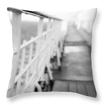 Railings Throw Pillow by Anne Gilbert