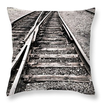 Railroad Switch Throw Pillow by Olivier Le Queinec