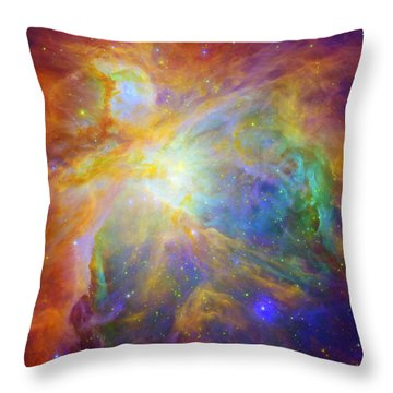 Rainbow Orion Throw Pillow by Georgia Fowler