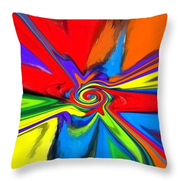 Rainbow Time Warp Throw Pillow by Chris Butler