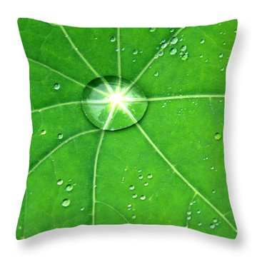 Raindrop Junction Throw Pillow by Aidan Moran