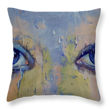 Raindrops Throw Pillow by Michael Creese