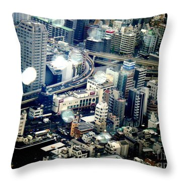 Raindrops Throw Pillow by Nelly Bacskay
