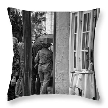 Rainy Day Lunch New Orleans Throw Pillow by Kathleen K Parker