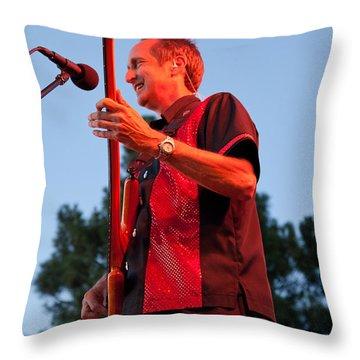 Randy Reis On Bass - The Fabulous Kingpins Throw Pillow by David Patterson