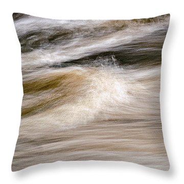 Rapids Throw Pillow by Marty Saccone