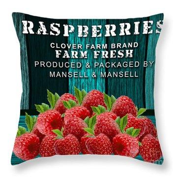 Raspberry Farm Throw Pillow by Marvin Blaine