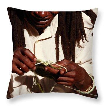 Rasta Man Throw Pillow by Aidan Moran