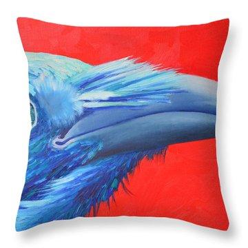 Raven Portrait Throw Pillow by Ana Maria Edulescu