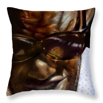 Ray Charles-beyond Sight 2 Throw Pillow by Reggie Duffie