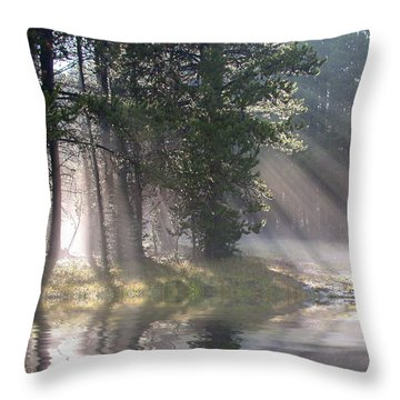 Rays Of Light Throw Pillow by Shane Bechler