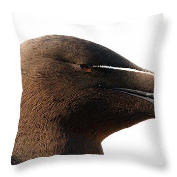 Razorbill Auk Throw Pillow by Jeannette Hunt