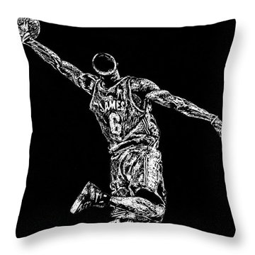 Reaching For Greatness #6 Throw Pillow by Maria Arango