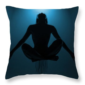 Reaching Nirvana.. Throw Pillow by Nina Stavlund
