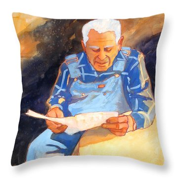 Reading Time Throw Pillow by Kathy Braud