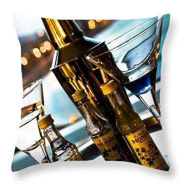 Ready For Drinks Throw Pillow by Sotiris Filippou