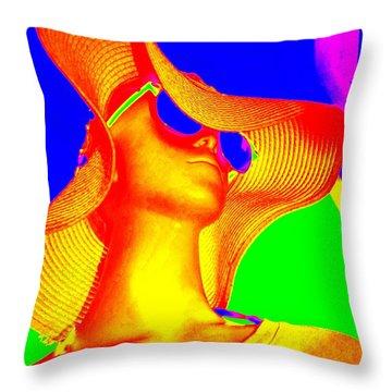 Reclusive Rosa Throw Pillow by Ed Weidman