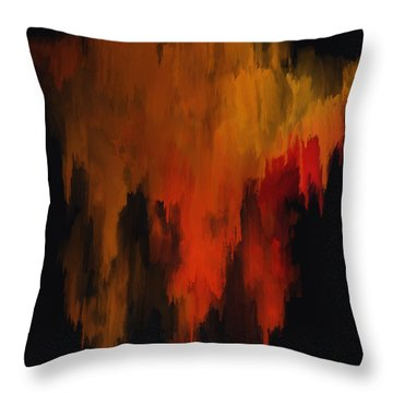 Red And Gold 1 Throw Pillow by Michael Pickett