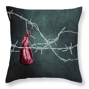 Red Balloon Throw Pillow by Joana Kruse