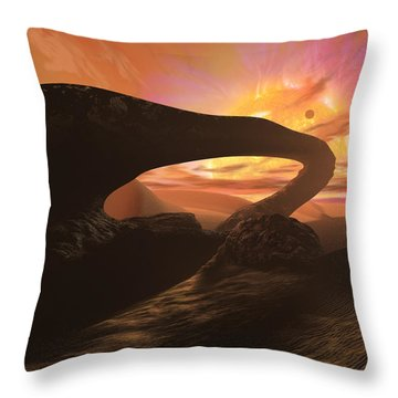 Red Dwarf Sun Throw Pillow by Don Dixon