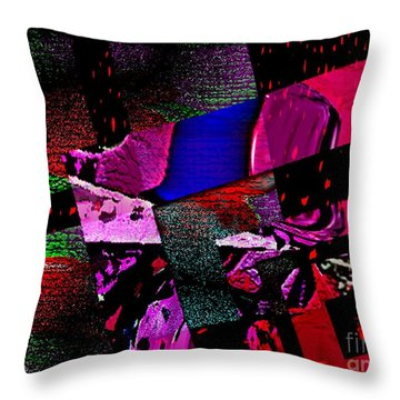 Red Geometric Expression Throw Pillow by Mario Perez