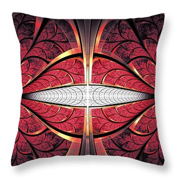 Red Lips Throw Pillow by Anastasiya Malakhova