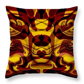 Red Mask Throw Pillow by Omaste Witkowski