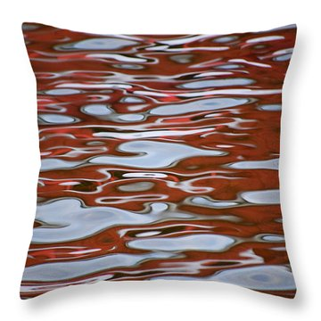 Red Meditation Throw Pillow by Heather  Rivet