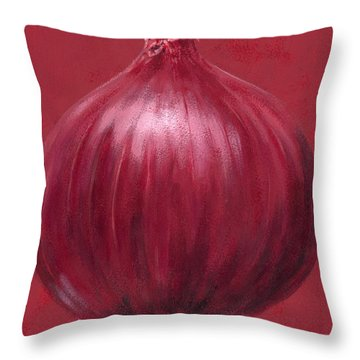 Red Onion Throw Pillow by Brian James
