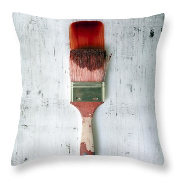 Red Paint Throw Pillow by Joana Kruse