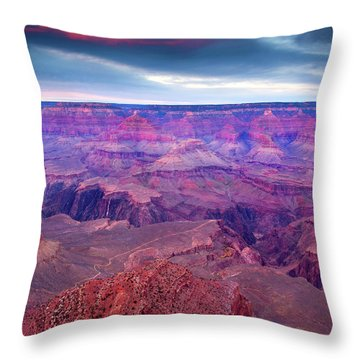 Red Rock Dusk Throw Pillow by Mike  Dawson