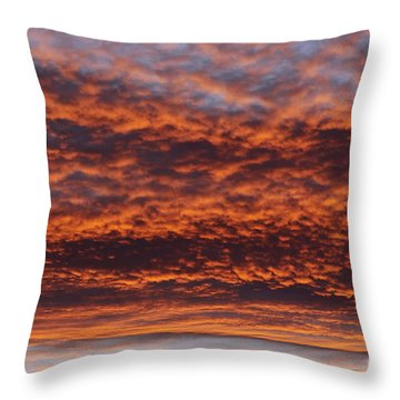 Red Sky Throw Pillow by Michal Boubin